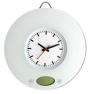 TFA Digitale keukenweegschaal met quartz klok